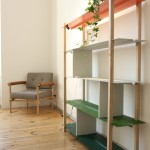 Rejon Armchair Valter shelving system, as seen at Summer Break VA / Neue Arbeiten, Direktorenhaus Berlin