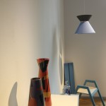 Iris vase and Taille lamp by Rejon, as seen at Summer Break VA / Neue Arbeiten, Direktorenhaus Berlin