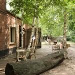 Tree Trunk Bench by Studio Makkink & Bey, as seen at Unter Zwischen im Ampelhaus, Oranienbaum