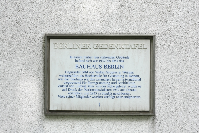 bauhaus berlin memorial plaque