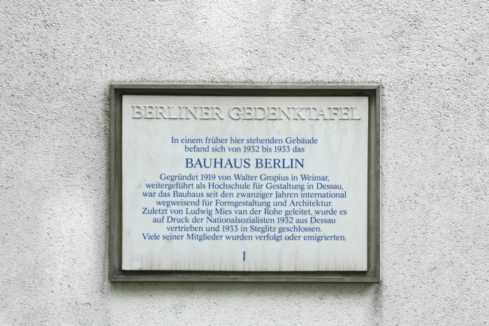 bauhaus berlin memorial plaque
