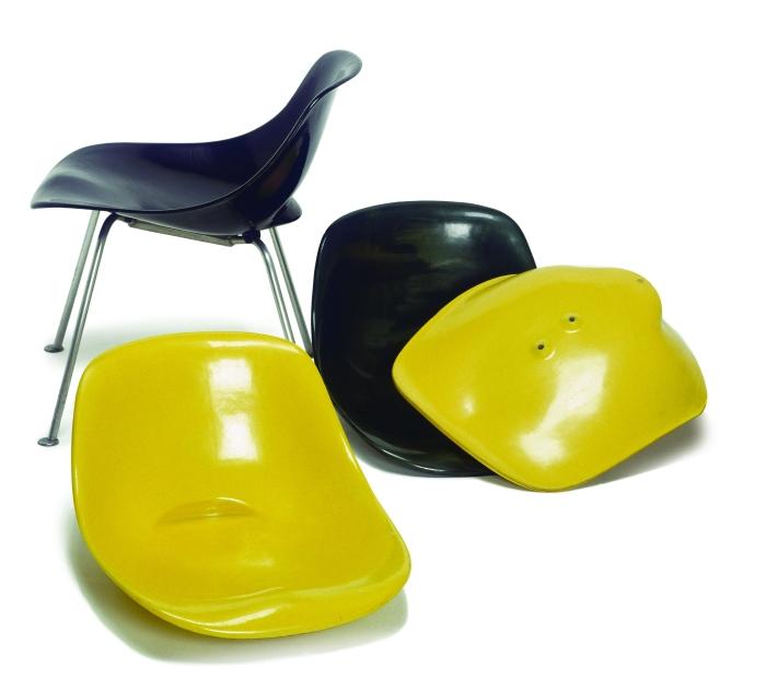100 Jahre Schweizer Design Willy Guhl Scobalit-Stuhl mit abnehmbaren Sitzschalen