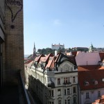 The view over Bratislava Old Town and Castle