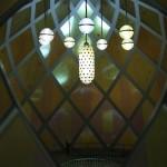 Inside the Glass Pavilion by Bruno Taut, as seen at Made in Germany – Politik mit Dingen. Der Deutsche Werkbund 1914 , the Werkbundarchiv – Museum der Dinge Berlin