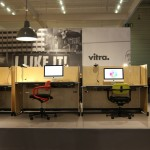 Allstar office chair and Hack table by Konstantin Grcic for Vitra, as seen at Orgatec Cologne 2014