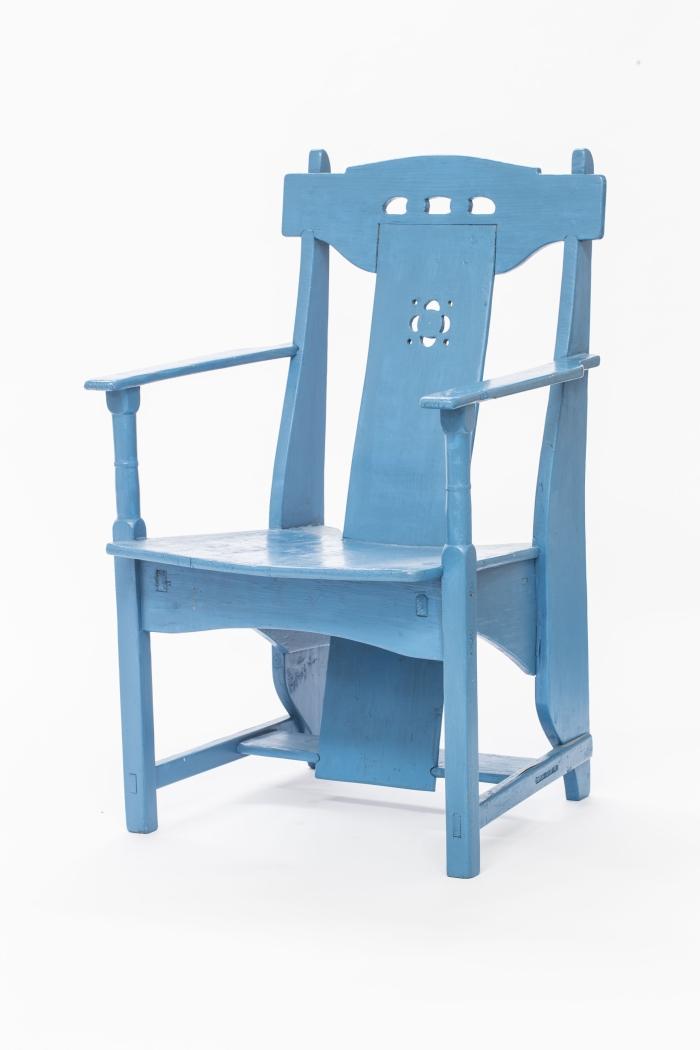 Blauwe stoel Piet Klaarhamer