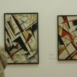 Abstract compositions from 1922  by Alexander Vesnin, as seen at VKhUTEMAS – A Russian Laboratory of Modernity, Martin-Gropius-Bau, Berlin