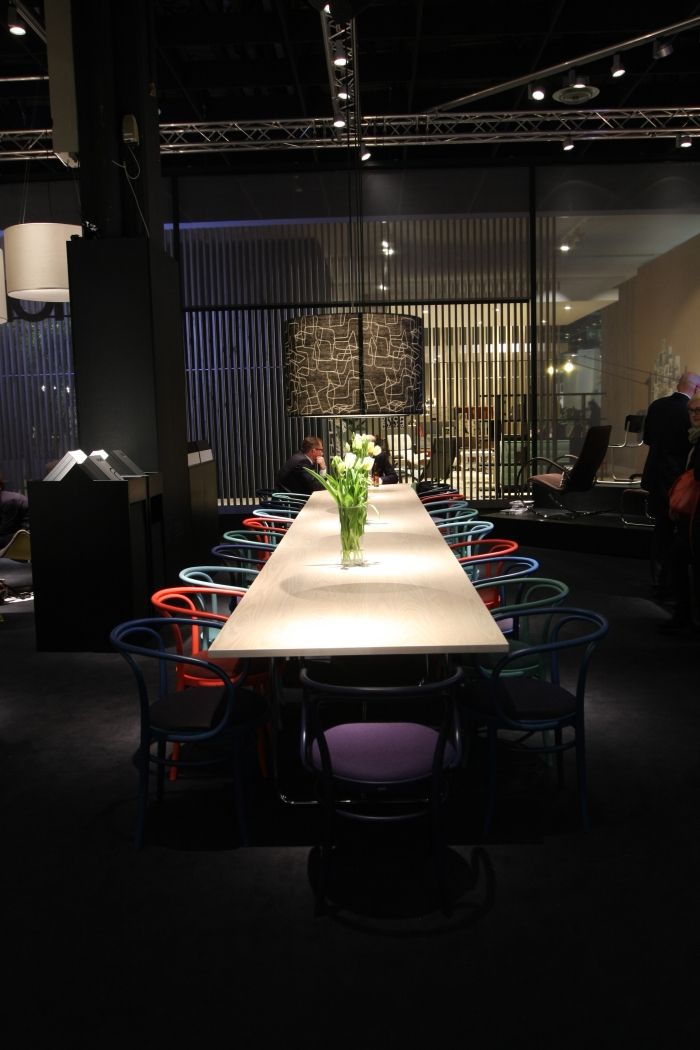 IMM Cologne 2015 Thonet coloured bentwood