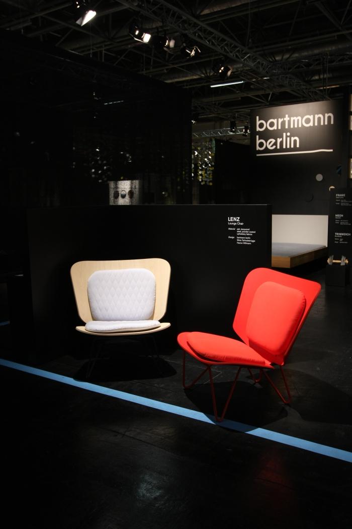 IMM Cologne 2015 Lenz lounge chair Bartman Berlin Silvia Terhedebrügge Hanne Willmann