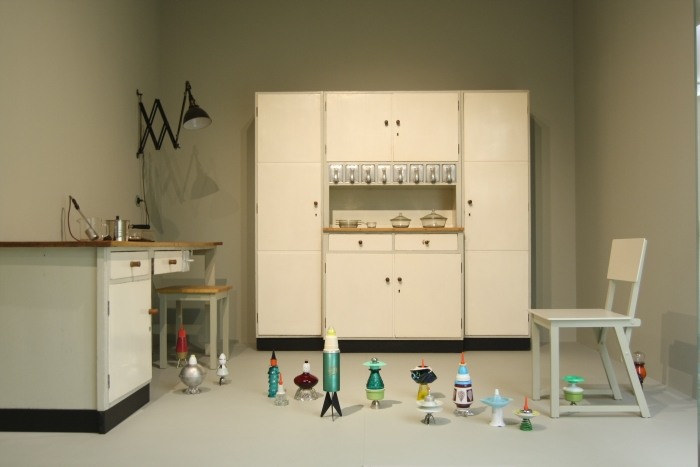 Private Universe collection by Silke Koch in a kitchen Ensemble by Erich Dieckmann, as seen at 2.5.0.Object is Meditation and Poetry, Grassi Museum for Applied Arts Leipzig