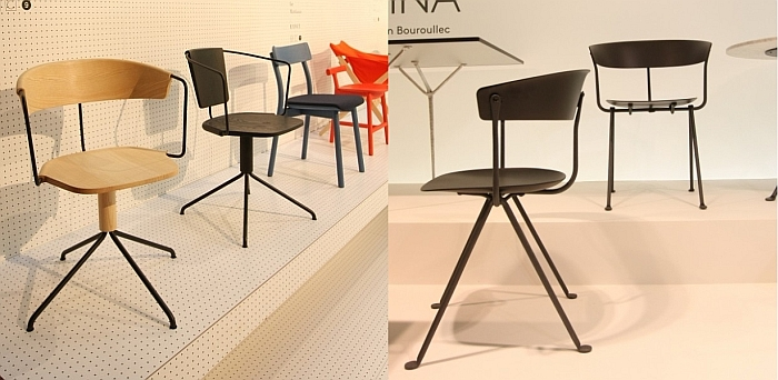 Self inspiration: The Uncino chair Mattiazzi by Ronan & Erwan Bouroullec for Mattiazzi and the Officina chair by Ronan & Erwan Bouroullec for Magis