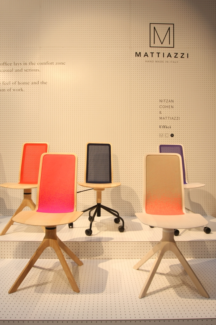 Uffici Chair by Nitzan Cohen for Mattiazzi, as seen at Milan Furniture Fair 2015