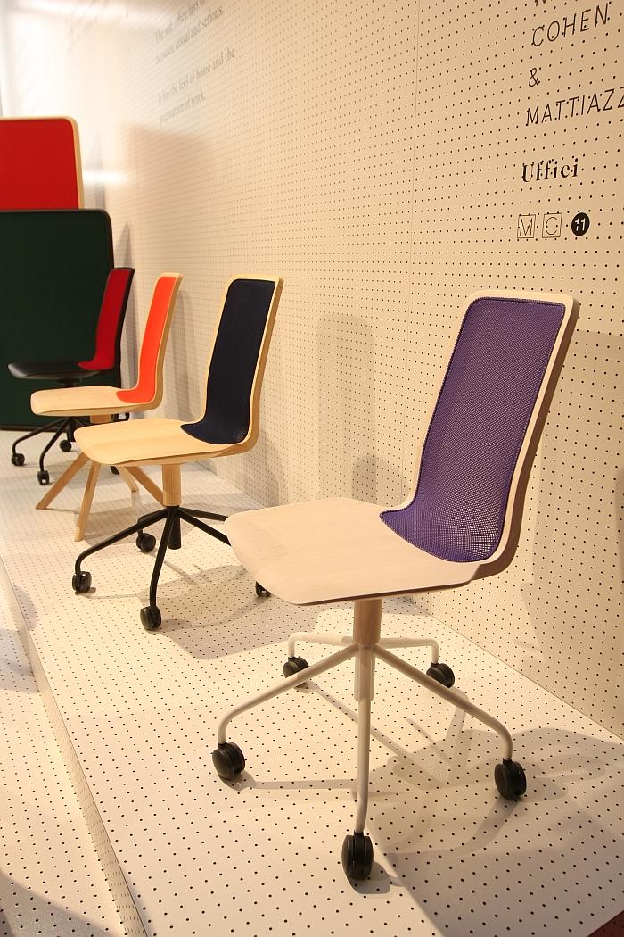 Uffici Chair by Nitzan Cohen for Mattiazzi, with metal, five foot castor base