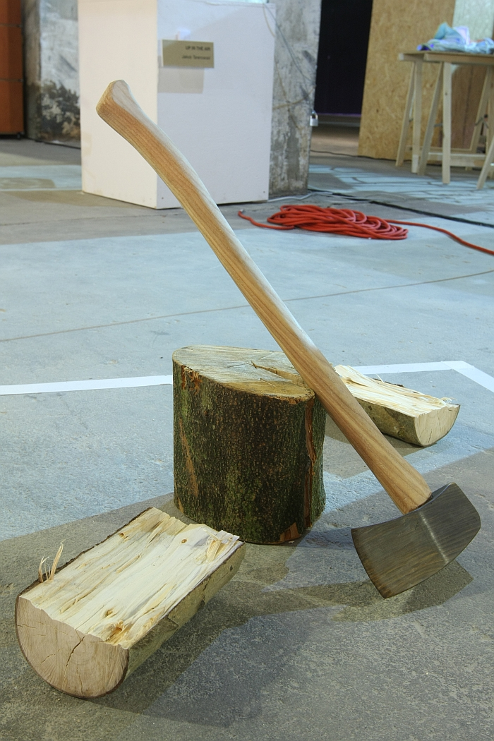 DMY Berlin 2015: Splitting Wood by Bastian Austermann