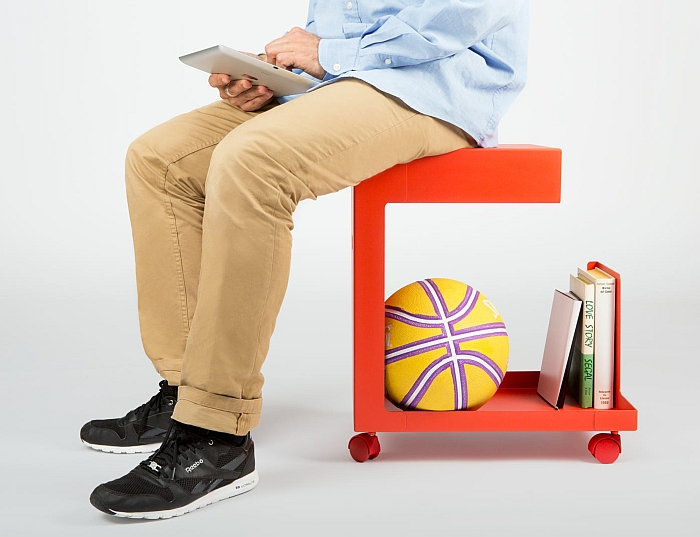 Ed Mobile Pedestal by Daniel Lorch for L and Z