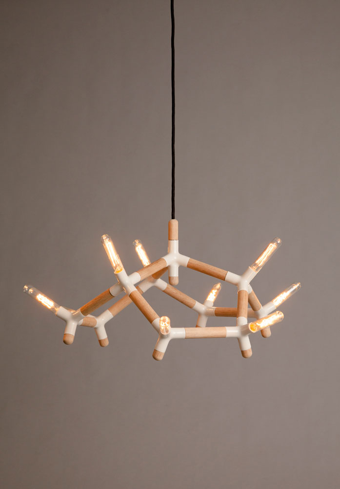 gren light chandelier by Gunnar Søren Petersen (Photo © Alex Kueper)