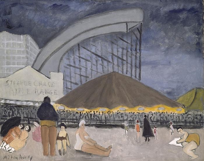 Milton Avery (American, 1885–1965). The Steeplechase, Coney Island, 1929.  © 2013 Milton Avery Trust/Artists Rights Society (ARS), New York