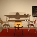 """The Eames set up for the exhibition """"For Modern Living"""", as seen at The World of Charles and Ray Eames, Barbican Art Gallery London"""