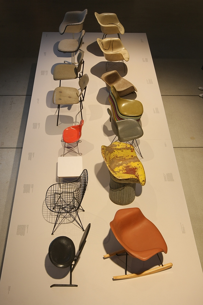 A world of moulded fibreglass, as seen at The World of Charles and Ray Eames, Barbican Art Gallery London