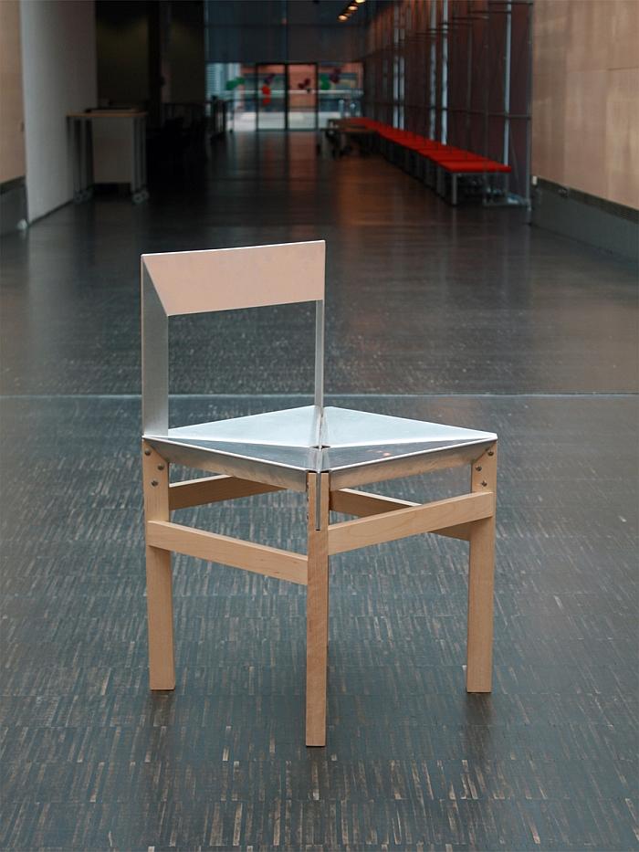 András Kerékgyártó Alu solidwood chair