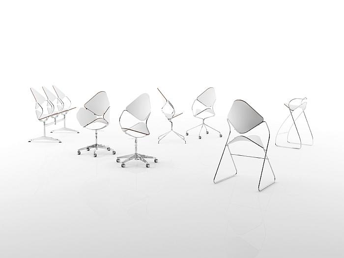 András Kerékgyártó Experimental family of chairs