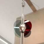 A recreation of a lamp designed for Halle-Leipzig airport by Karl Müller, as see at Moderne in der Werkstatt  - 100 Years Burg Giebichenstein Kunsthochschule Halle,  Kunstmuseum Moritzburg, Halle