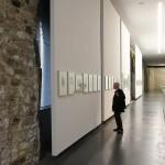 A display of Burg Giebichenstein photography, as see at Moderne in der Werkstatt - 100 Years Burg Giebichenstein Kunsthochschule Halle, Kunstmuseum Moritzburg, Halle