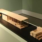 A concept modular weekend house by Ferdinand Kramer, as seen at Line Form Function. The Buildings of Ferdinand Kramer, the Deutsches Architekturmuseum, Frankfurt