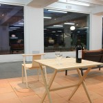 Fionda table for Mattiazzi, Ormiale Bordeaux & Bac Armchair for Cappellini, as seen at the exhibition A&W Designer of the Year 2016 - Jasper Morrison, Passagen Cologne