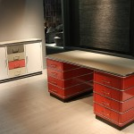 The TB 229 desk and SB 123 sideboard from Müller Möbelfabrikation's Classic Line collection, as seen at IMM Cologne 2016