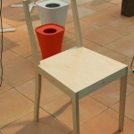 Plywood Chair by Jasper Morrison through Vitra and the bin Trash for Magis, as seen at the exhibition A&W Designer of the Year 2016 - Jasper Morrison, Passagen Cologne