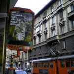 """My Bauhaus is better than yours"" exhibition poster Milan 2009 (with a little support from the Milan Transport Corporation)"