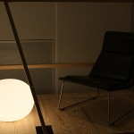 Sometimes the chiars are in the shade... Glo-Ball for Flos and Low Pad chair for Cappellini