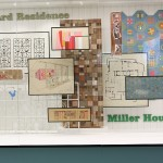 Sketches, plans and objects for and from the Girard Residence and Miller House, as seen at Alexander Girard. A Designer's Universe, Vitra Design Museum