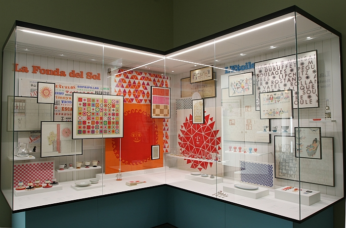 Work created for and in context of La Fonda del Sol and L'Etoile restaurants, as seen at Alexander Girard. A Designer's Universe, Vitra Design Museum