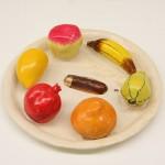 A plate of papier màche fruit (India, ca. 1958) as seen at Alexander Girard. A Designer's Universe, Vitra Design Museum