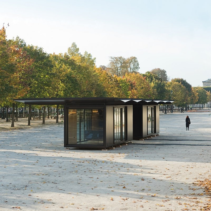 Kiosque by Ronan & Erwan Bouroullec, here in front of the Louvre, 2015 (Photo © & courtesy of Studio Bouroullec)