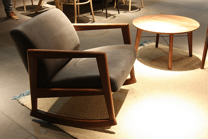 866 F Rocking Chair by Lydia Brodde, Thonet Design Team for Thone, as seen at Milan Furniture Fair 2016