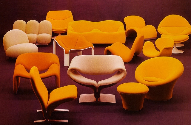 Furniture by Pierre Paulin (Image courtesy of Le Centre Pompidou)