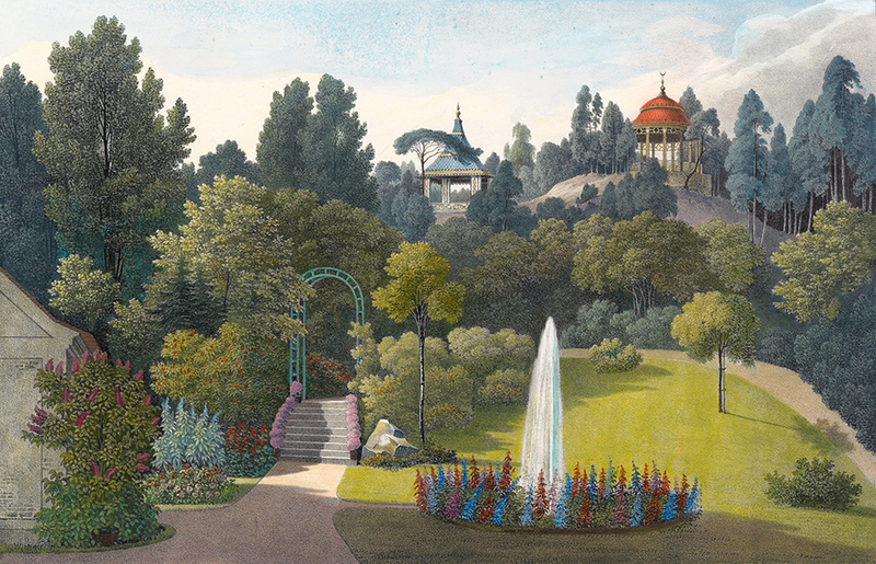 Pleasureground am Bad from Hermann Fürst von Pückler-Muskau's book, Andeutungen über Landschaftsgärtnerei 1834 (Courtesy of the Bundeskunsthalle Bonn)