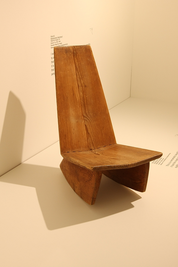 Rocking Chair by Jacob Müller, as seen at the Museum für Gestaltung Zürich