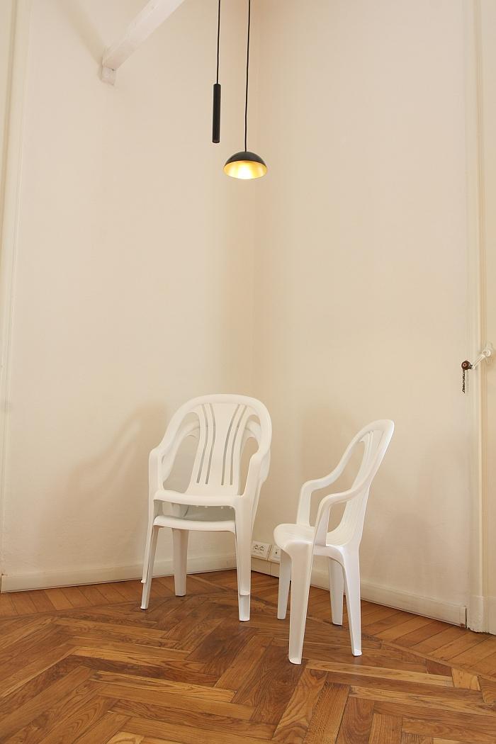 Pong lamp by Simon Diener & Yurt Market 800 chair by Max Guderian & Clemens Lauer, as seen at kkaarrlls 2016, Milan