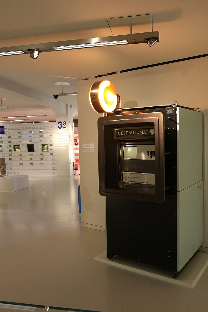 An East German era cash machine....as seen at Geld, smac – State Museum for Archaeology in Chemnitz