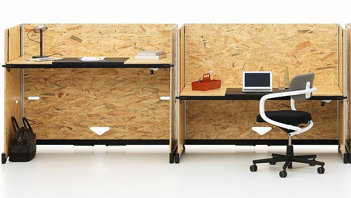 The height adjustable desk Hack by Konstantin Grcic for Vitra.