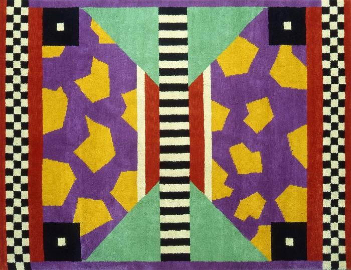 Arizona carpet by Nathalie Du Pasquier, 1983 (Photo: Studio Azzurro, Courtesy Memphis Milano)