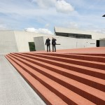 Rolf Fehlbaum & Jacques Herzog admiring Zara Hadid's Fire Station.....