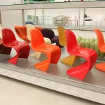 .... and you thought there was just one Panton Chair...... A collection of different versions from different production periods