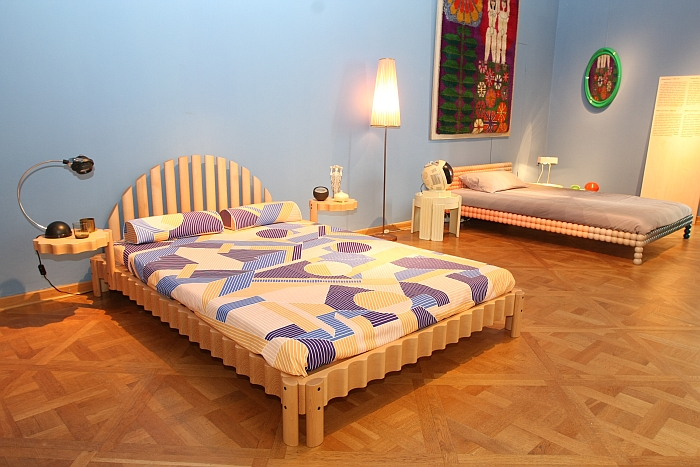 A bed by Bethan Laura Wood for Philippe Malouin, as seen at Friends + Design, Kunstgewerbemuseum Dresden