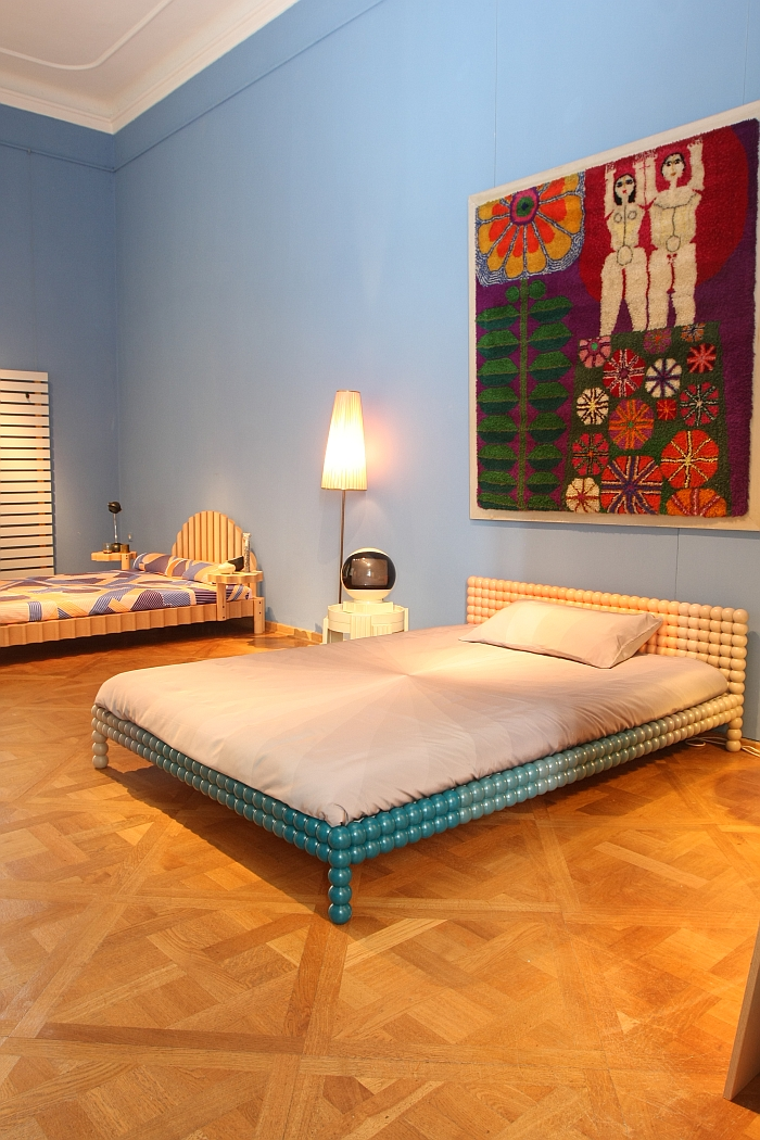 A bed by Philippe Malouin for Bethan Laura Wood, as seen at Friends + Design, Kunstgewerbemuseum Dresden