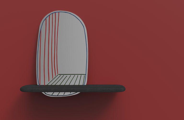 New Perspective Mirror by Alain Gilles for Bonaldo (Photos © and courtesy Alain Gilles)